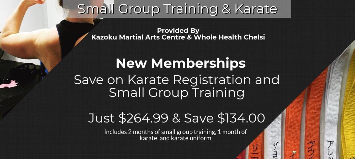 Karate & Small Group Training Promo