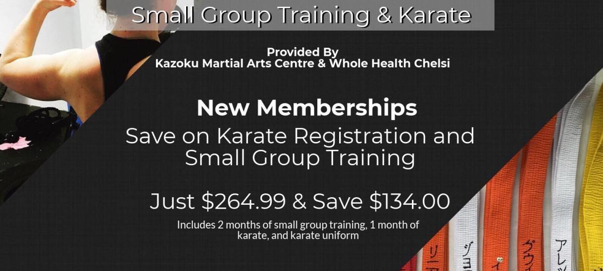 Karate & Small Group TrainingPromo